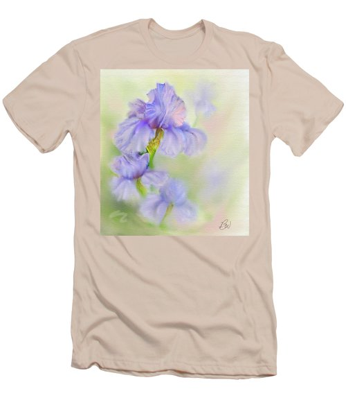 Men's T-Shirt (Slim Fit) featuring the painting Purple Iris by Bonnie Willis