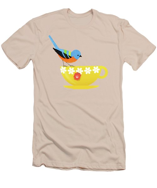 Put The Kettle On Men's T-Shirt (Slim Fit) by Little Bunny Sunshine