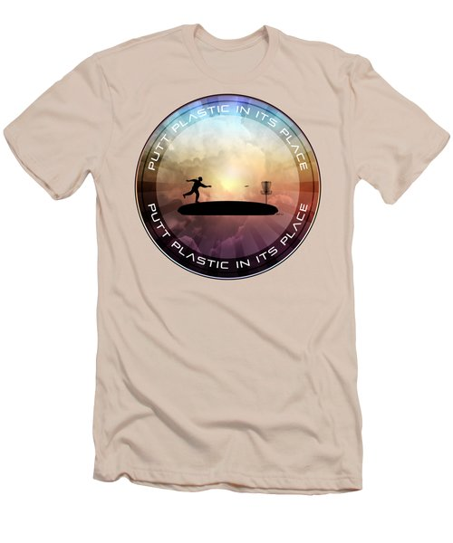 Putt Plastic In Its Place Men's T-Shirt (Athletic Fit)
