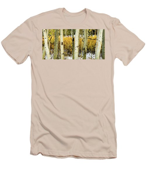 Quakies And Willows In Autumn Men's T-Shirt (Athletic Fit)