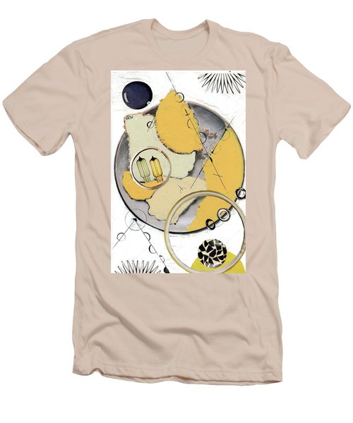 Men's T-Shirt (Slim Fit) featuring the painting Quantom Physics by Michal Mitak Mahgerefteh