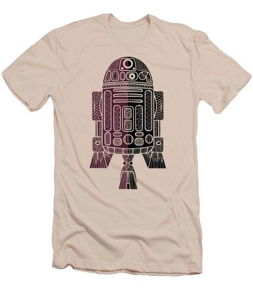 R2d2 - Star Wars Art - Purple Men's T-Shirt (Athletic Fit)