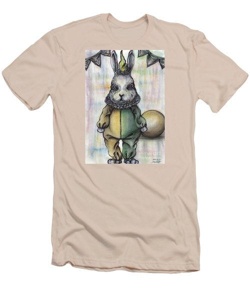 Rabbit Pierrot Men's T-Shirt (Slim Fit) by Akiko Okabe