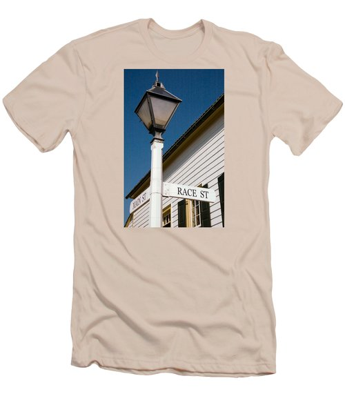 Race St Old Salem Men's T-Shirt (Slim Fit) by Bob Pardue