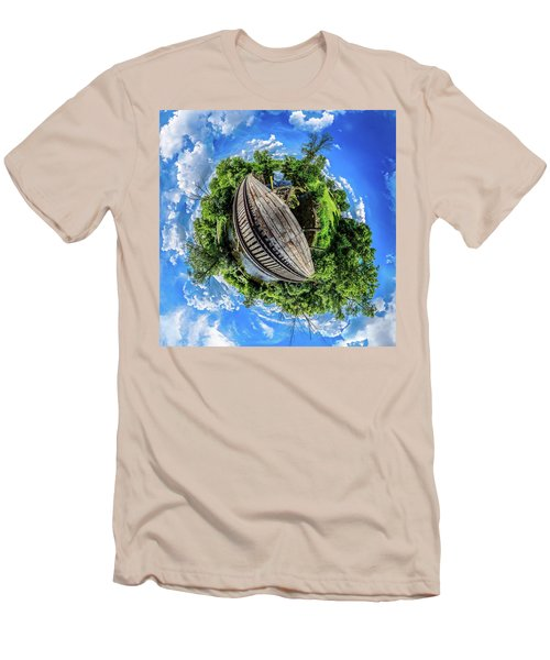 Men's T-Shirt (Athletic Fit) featuring the photograph Railroad Bridge by Randy Scherkenbach