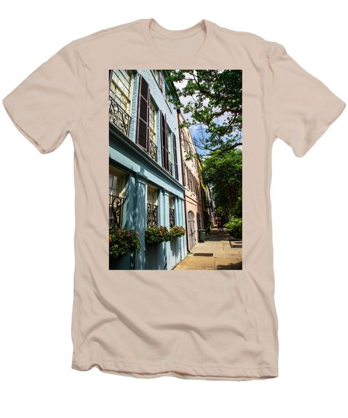 Men's T-Shirt (Slim Fit) featuring the photograph Rainbow Street by Karol Livote