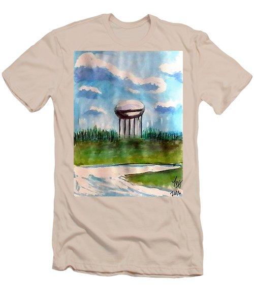 Raines Road Watertower Men's T-Shirt (Slim Fit) by Loretta Nash
