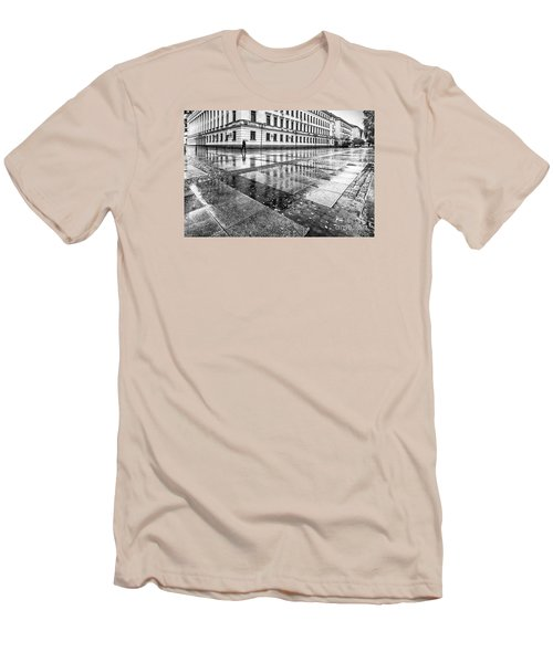 Men's T-Shirt (Slim Fit) featuring the photograph Rainy Day by Jivko Nakev