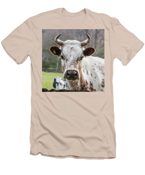 Men's T-Shirt (Slim Fit) featuring the photograph Randall Cow by Bill Wakeley
