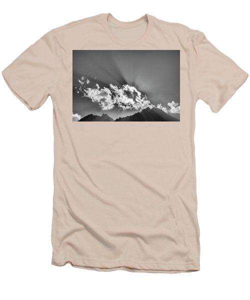 Rays Through Clouds, Keylong, 2005 Men's T-Shirt (Slim Fit) by Hitendra SINKAR