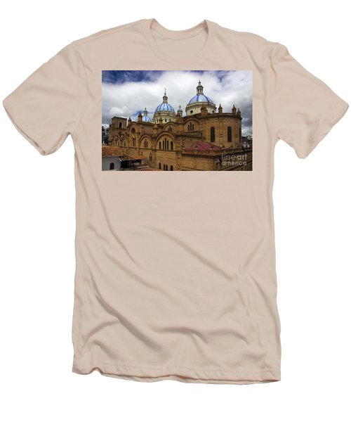 Rear Corner View Of Immaculate Conception Cathedral Men's T-Shirt (Athletic Fit)