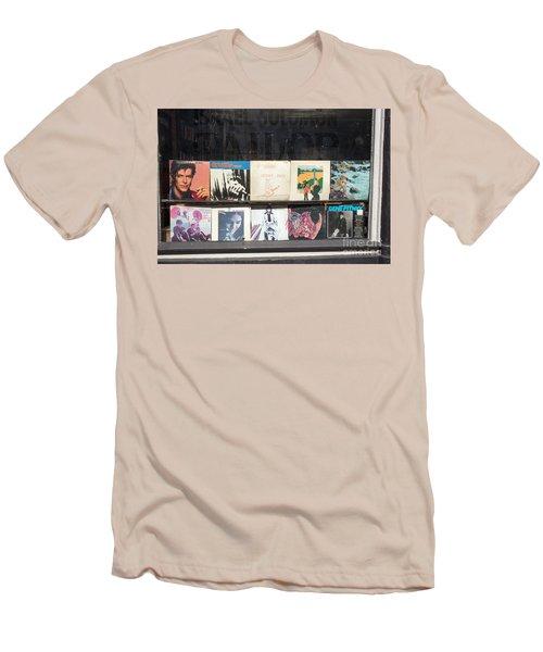 Record Store Burlington Vermont Men's T-Shirt (Slim Fit) by Edward Fielding