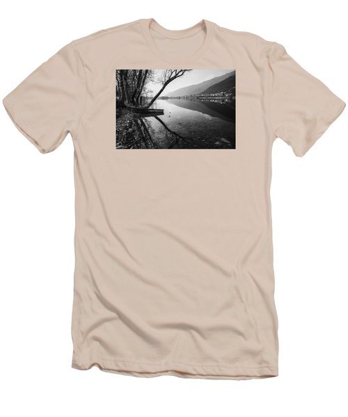 Men's T-Shirt (Slim Fit) featuring the photograph Reflecting by Yuri Santin