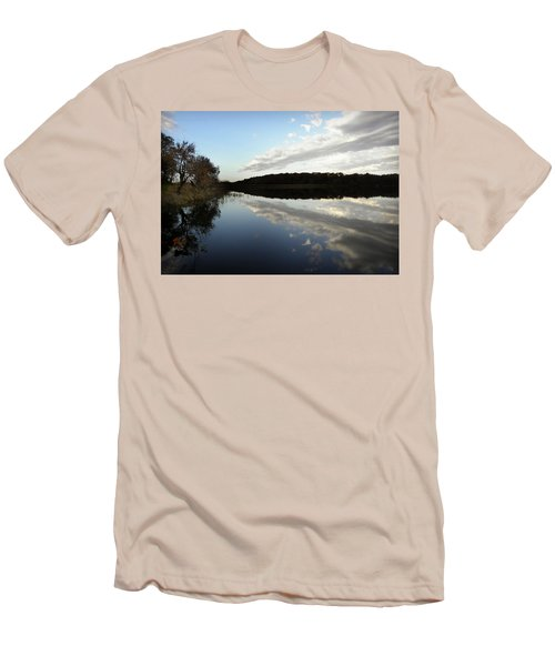 Men's T-Shirt (Slim Fit) featuring the photograph Reflections On The Lake by Chris Berry