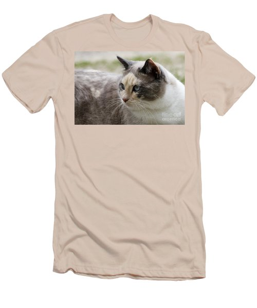 Men's T-Shirt (Slim Fit) featuring the photograph Relaxed by Teresa Zieba