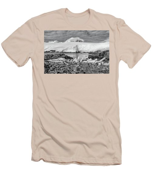 Remains Of A Giant Men's T-Shirt (Slim Fit) by Alan Toepfer