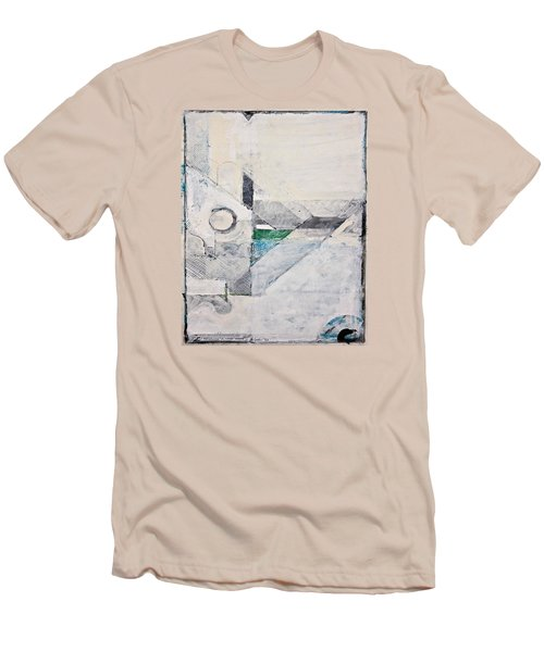 Men's T-Shirt (Slim Fit) featuring the painting Reservoir  by Cliff Spohn