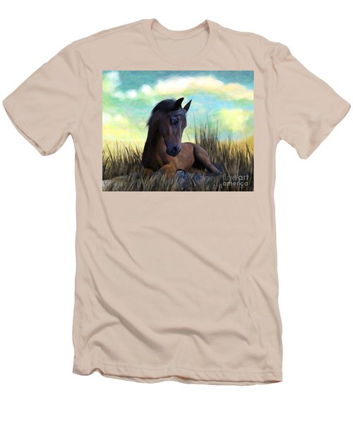 Resting Foal Men's T-Shirt (Athletic Fit)