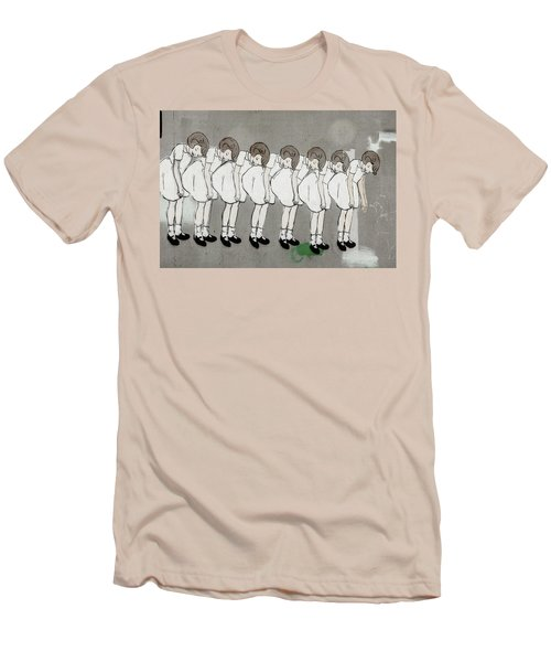 Men's T-Shirt (Slim Fit) featuring the photograph Retro Girl by Art Block Collections