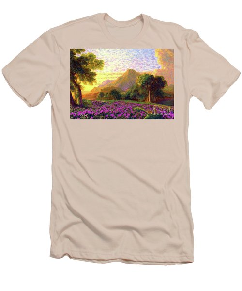 Rhododendrons, Rabbits And Radiant Memories Men's T-Shirt (Athletic Fit)