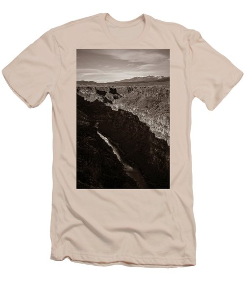Men's T-Shirt (Slim Fit) featuring the photograph Rio Grande River Taos by Marilyn Hunt