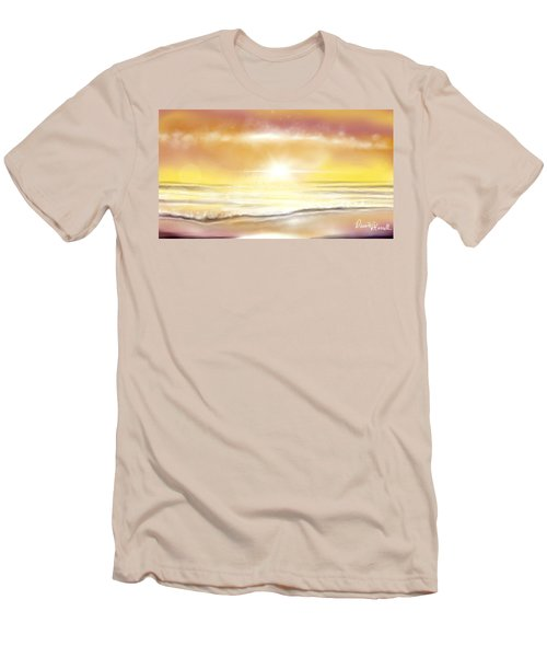 Men's T-Shirt (Slim Fit) featuring the painting Rise And Shine by Dawn Harrell