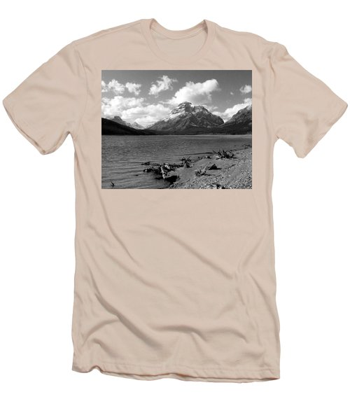 Rising Wolf, Two Med Shoreline Men's T-Shirt (Slim Fit)