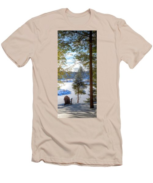 River View Men's T-Shirt (Slim Fit) by David Patterson