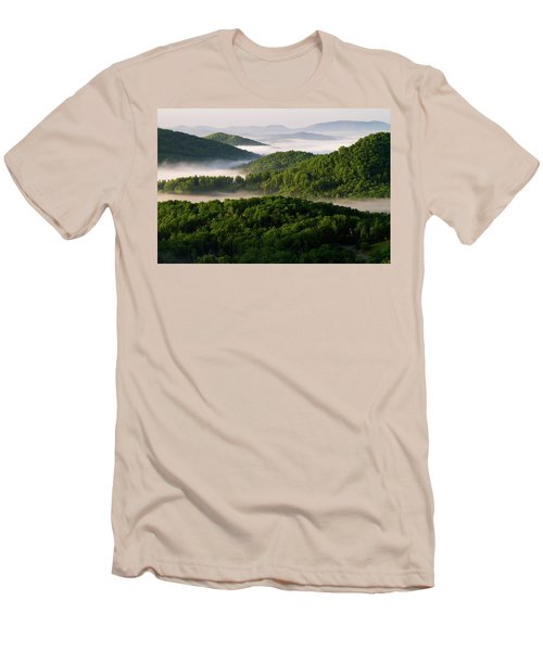Rivers Of White Men's T-Shirt (Slim Fit) by Deborah Scannell
