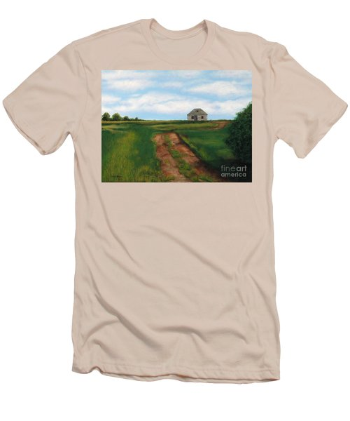 Road To The Past Men's T-Shirt (Slim Fit) by Billinda Brandli DeVillez