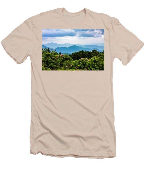 Roan Mountain Rhodos Men's T-Shirt (Slim Fit) by Dale R Carlson