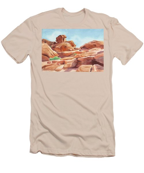 Rock Away Men's T-Shirt (Slim Fit) by Sandy Fisher