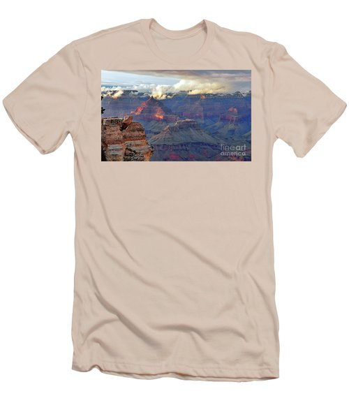 Rocks Fall Into Place Men's T-Shirt (Slim Fit) by Debby Pueschel