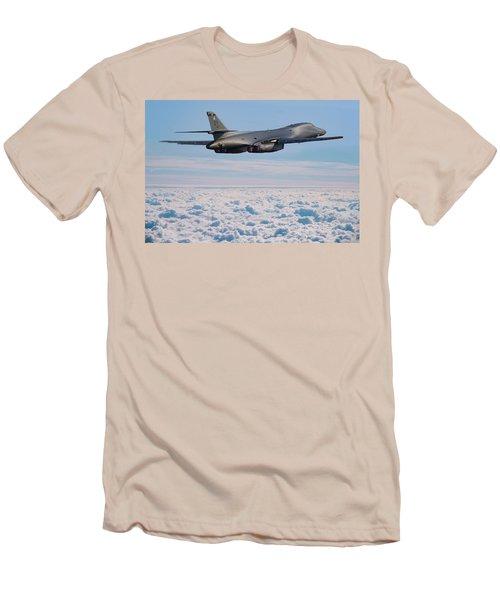 Rockwell B1 Lancer Men's T-Shirt (Slim Fit) by Ken Brannen