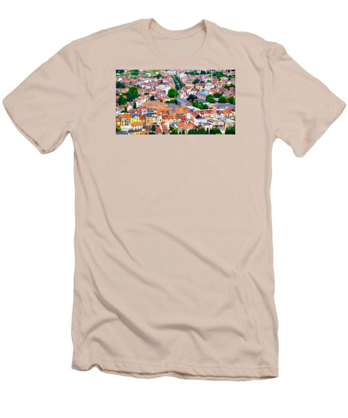 Men's T-Shirt (Slim Fit) featuring the photograph Rooftops by Pravine Chester
