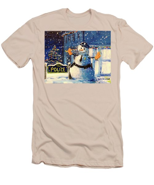 Rookie Working Christmas Eve Men's T-Shirt (Athletic Fit)