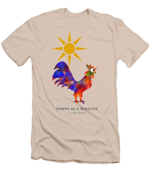 Rooster Pattern Art Men's T-Shirt (Slim Fit)