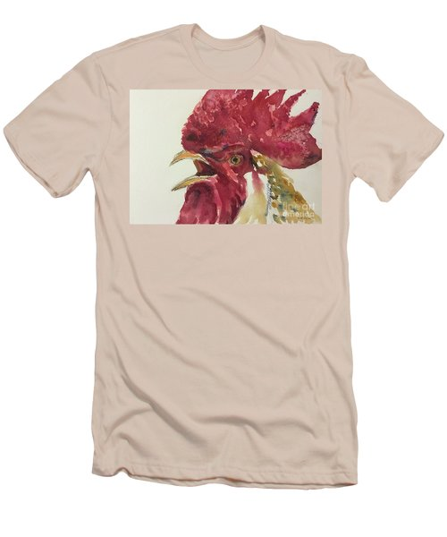 Rooster Men's T-Shirt (Slim Fit) by Yoshiko Mishina