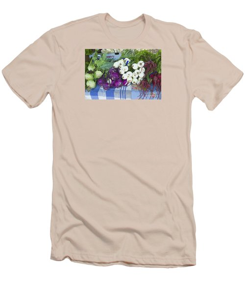 Men's T-Shirt (Slim Fit) featuring the painting Root Vegetables by Jeanette French