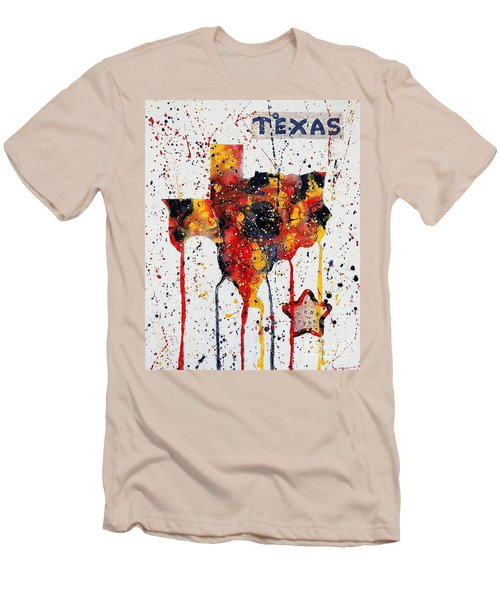 Rooted In Texas Men's T-Shirt (Slim Fit) by Tamyra Crossley