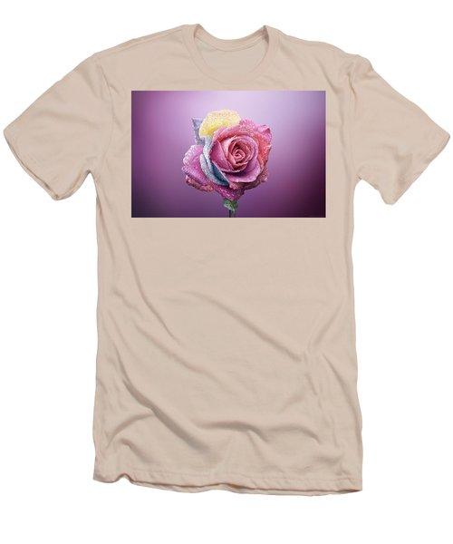 Rose Colorfull Men's T-Shirt (Slim Fit) by Bess Hamiti
