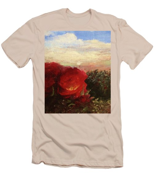 Rosebush Men's T-Shirt (Slim Fit) by Mary Ellen Frazee