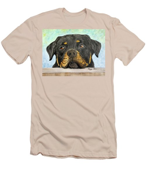 Rottweiler's Sweet Face 2 Men's T-Shirt (Athletic Fit)