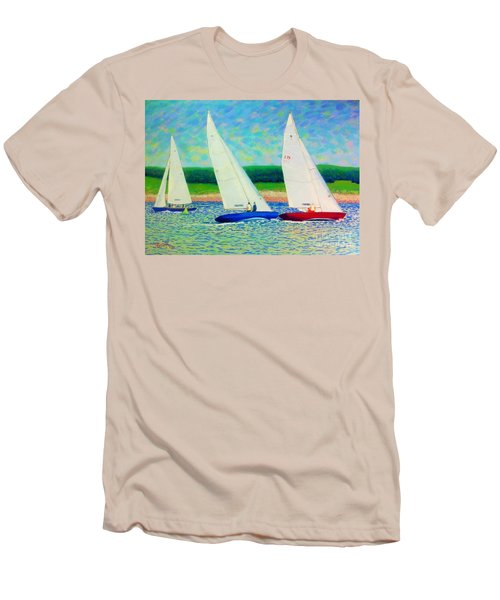 Rounding The Mark  Men's T-Shirt (Slim Fit) by Rae  Smith