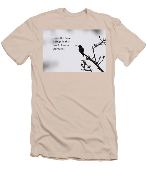 Ruby-throated Hummingbird - Little Things Men's T-Shirt (Athletic Fit)
