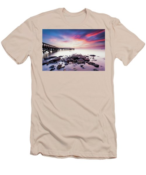 Men's T-Shirt (Slim Fit) featuring the photograph Run To The Sun by Edward Kreis