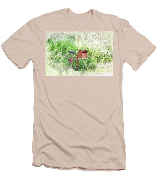Men's T-Shirt (Slim Fit) featuring the photograph Rural Mailbox by Jean OKeeffe Macro Abundance Art