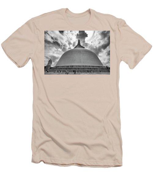 Ruwanwelisaya, Anuradhapura, 2012 Men's T-Shirt (Slim Fit) by Hitendra SINKAR