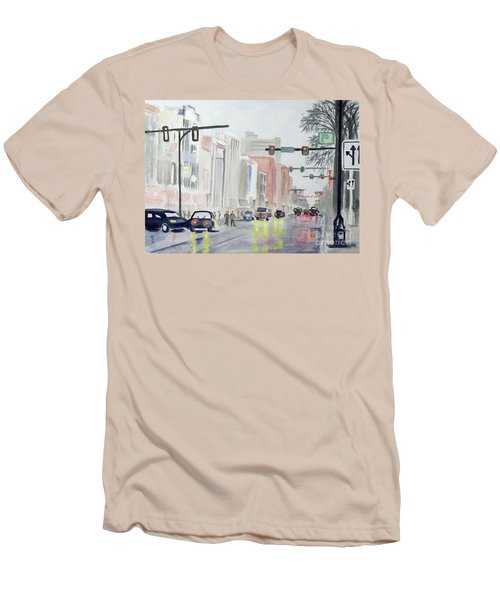 S. Main Street In Ann Arbor Michigan Men's T-Shirt (Athletic Fit)
