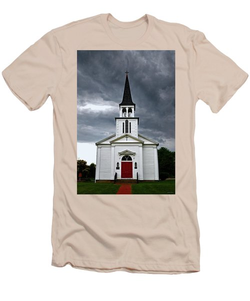 Men's T-Shirt (Slim Fit) featuring the photograph Saint James Episcopal Church 002 by George Bostian